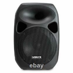 Système De Haut-parleurs Pa Entièrement Alimenté Avec Stands Vraiment Portable Mobile Dj Disco Set