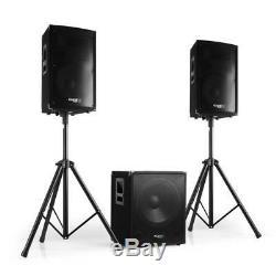 Système De Haut-parleurs Pour Sono Dj Disco Party Professionnel 15 Subwoofer Actif Salut Fi 1200w