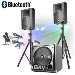 Système De Sonorisation Active Amplifiée Pour Dj Mobile Setup 12 Subwoofer