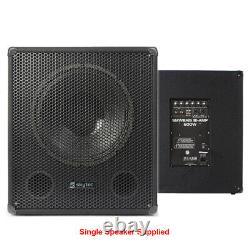 Système Pa Actif Dj Disco 2.1 Speaker Sound Set Avec Subwoofer Et Câbles