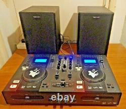 Tibo Dj 1000 CD / Usb Disco System Bundle (avec Haut-parleurs Actifs)
