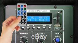 Vocal-star Pa Active 12 Haut-parleurs Bluetooth Mp3 1000w Inc Stands Dj Disco