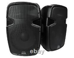Vocal-star Pa Active 12 Haut-parleurs Système Bluetooth Mp3 1000w Inc Stands Dj Disco