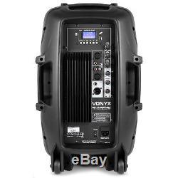 Vonyx 12 Haut-parleur Bluetooth Actif Mp3 Usb Sd Sd Dj Disco Party Karaoké 600w