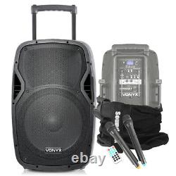 Vonyx 15 Active Bluetooth Dj Disco Party Speaker + Soundsak Speaker Carry Bag