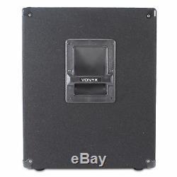 Vonyx 15 Subwoofer Actif Alimenté Bass Bass Boost Bin Dj Disco Pa Sub Haut-parleur 600w