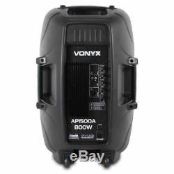Vonyx Active Enceinte De Sono Amplifiée Ap1500a 15 (single) Dj disco Party 800w