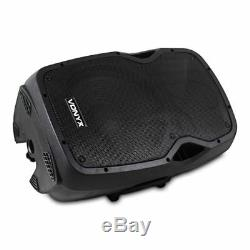 Vonyx Active Pa Speaker Ap1200a Moniteurs De Disco Pour Fêtes Dj 12 Pouces 300w Rms