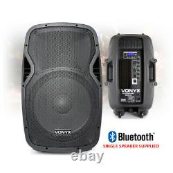 Vonyx Active Powered Dj Disco Pa Haut-parleurs Sans Fil Bluetooth 15 Supports 1600w