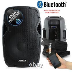 Vonyx Ap1200abt 12 Active Powered Bluetooth Dj Disco Pa Haut-parleur Avec Carry Bag