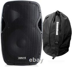 Vonyx Ap1200abt 12 Active Powered Bluetooth Dj Disco Pa Speaker Withcarry Bag