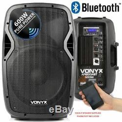 Vonyx Ap1200abt 12 Bluetooth Dj Disco Active Powered Pa Avec Haut-parleur Sac Carry