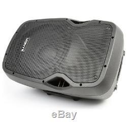 Vonyx Ap1200abt Enceinte De Sonorisation Amplifiée Active Dj Disco 12 Système De Haut-parleurs Bluetooth Abs 600w