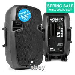 Vonyx Audio Spj12a V3 12 600w Active Dj Disco Pa Club Conférencier