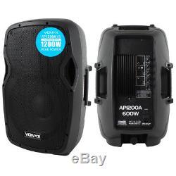 Vonyx Pro Ap12-v3 12 Haut-parleur De Disco Club À Deux Discons De 1200 Dj Ipp Active Djp