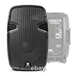 Vonyx Spj12 V3 Active 1200w 12 Dj Disco Pa Speaker (paire) Avec Stands & Sacs