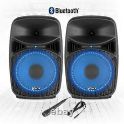 Vonyx Vps082a 8 Active Bluetooth Disco Speakers Dj Pa System Wth Stands & Bags