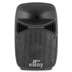 Vonyx Vps102a 10 Actifs Bluetooth Disco Haut-parleurs Dj Pa 600w Avec Des Stands