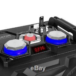 Vs12 Bluetooth Actifs Haut-parleurs Dj Disco Powered Party Set Avec Lumières Led 1200w
