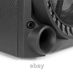 Vs12 Haut-parleurs Bluetooth Actifs Dj Disco Party Set Avec Lumières Led 1200w