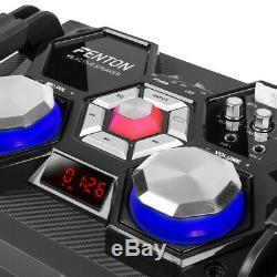 Vs210 Bluetooth Disco Active Speaker Powered Dj Party Box Avec Led Lumières 1600w