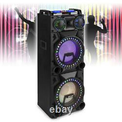 Vs212 Haut-parleur Bluetooth Actif Dj Disco Party Box Avec Lumières Led 2400w