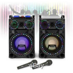 Vs-10 Bluetooth Powered Disco Haut-parleurs Karaoke Party Dj Avec Lumières Microphones