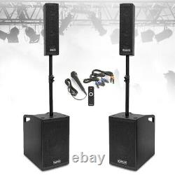 Vx-1050 Active Pa Speaker System, Subwoofers & Microphone Puissant Dj Disco Set