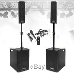 Vx-1050 Pa Active Speaker System Subwoofers Et Microphone Puissant Set Dj Disco