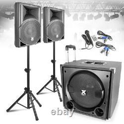 Vx-800 Haut-parleur Portable Système De Sonorisation, Caisson De Basses Et Microphone Actif Dj Set Disco