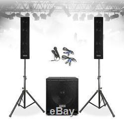 Vx-880 Pa Haut-parleur, Caisson De Basses Et Microphone Actif Puissant Dj Set Disco