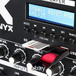 Vx-880 Pa Speaker System, Subwoofer Et Microphone Active Powerful Dj Disco Set